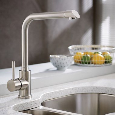 TW Tain Kitchen Sink Mixer Tap - Stainless Steel