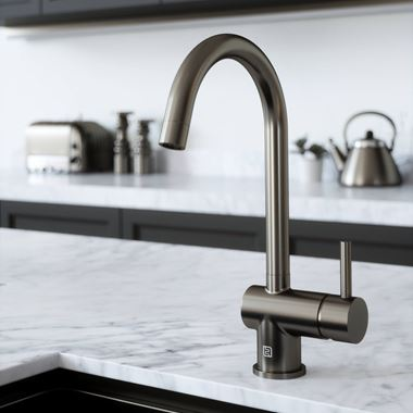 The Tap Factory Vibrance 1 Gunmetal Single Lever Mono Kitchen Mixer with Coloured Handle
