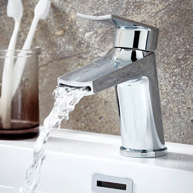 Harbour Clarity Mono Basin Mixer with Push Waste - Chrome