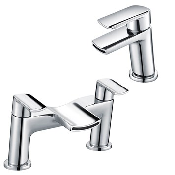 Harbour Clarity Mono Basin Mixer & Deck Mounted Bath Filler