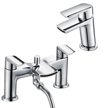 Harbour Clarity Mono Basin Mixer & Bath Shower Mixer with Shower Kit
