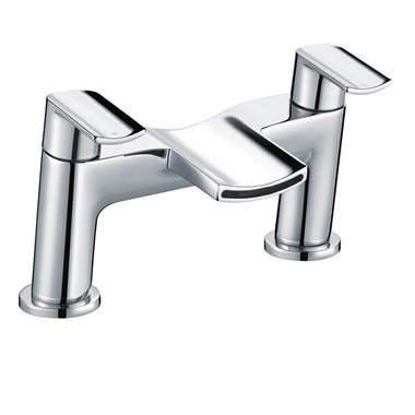Harbour Clarity Deck Mounted Bath Filler Tap - Polished Chrome