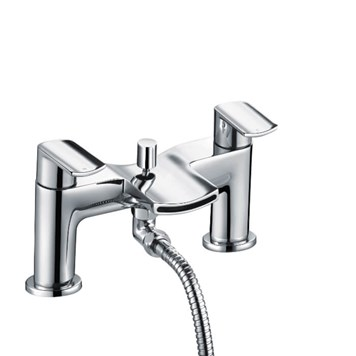 Harbour Clarity Bath Shower Mixer with Shower Kit - Chrome