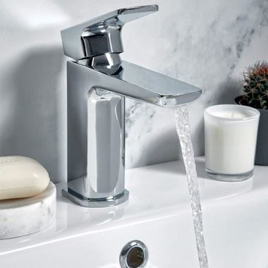 Harbour Status Chrome Basin Mixer Tap with Free Waste