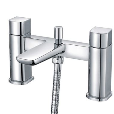 Harbour Status Chrome Bath Shower Mixer Tap & Shower Kit