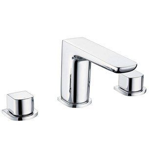 Harbour Status Chrome 3 Hole Basin Mixer Tap with Free Waste