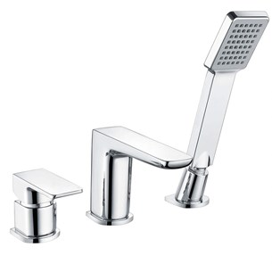 Harbour Status Chrome 3 Hole Bath Mixer with Pull Out Handset