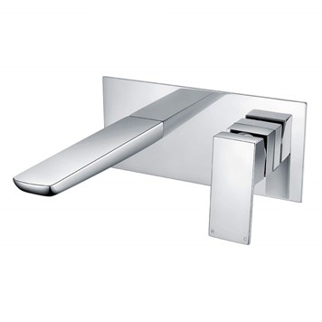Harbour Status Chrome Wall Mounted Bath Mixer Tap