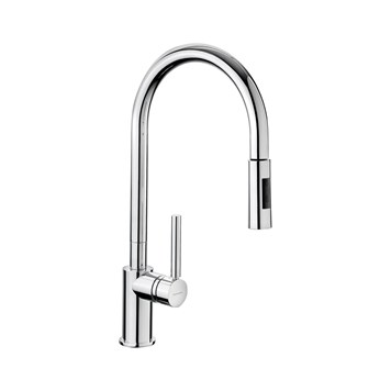 Rangemaster Bari Single Lever Mono Pull Out Kitchen Tap - Brushed Nickel