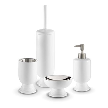 Bathroom Origins Temple 4 Piece Freestanding Accessory Pack - White