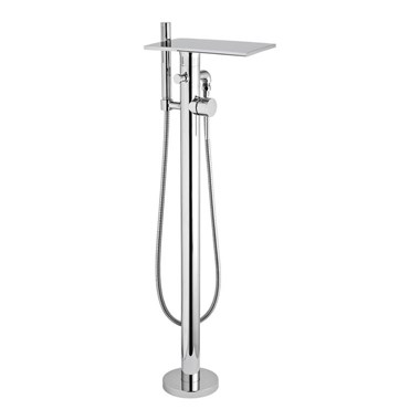 Hudson Reed Waterfall Floor Standing Bath Shower Mixer With Shower Handset and Hose