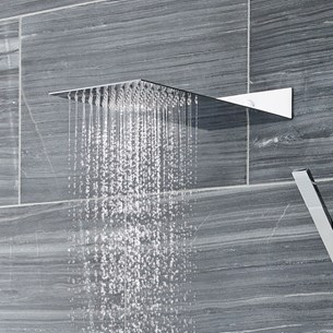 Vellamo Wafer Square Stainless Steel Fixed Shower Head