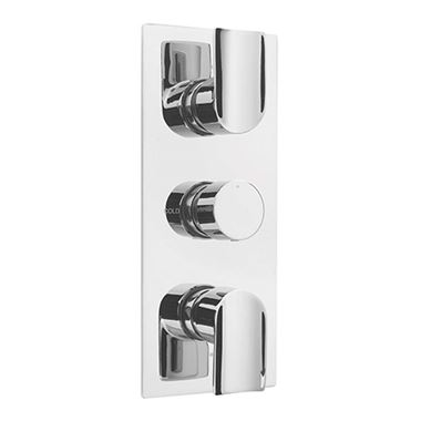 Sagittarius Tivoli Concealed 3 Outlet Thermostatic Shower Diverter Valve - Chrome