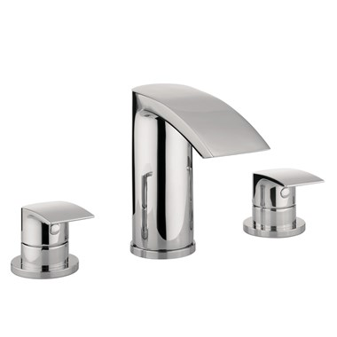 Proflow Tiera Waterfall 3 Hole Bath Filler