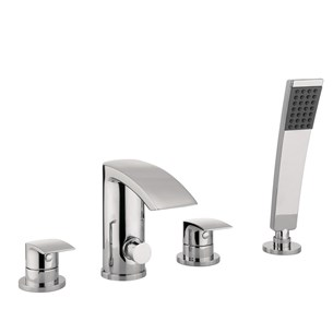 Proflow Tiera Waterfall 4 Hole Bath Shower Mixer