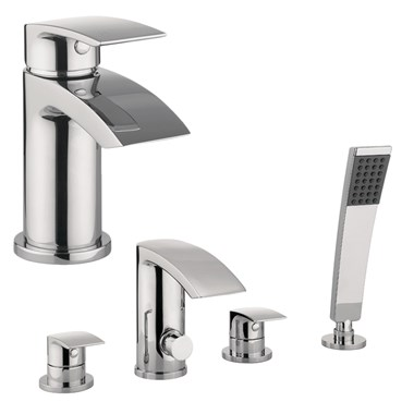 Proflow Basin Mixer & 4 Hole Bath Shower Mixer Value Pack