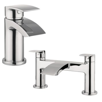 Proflow Tiera Basin Mixer & Bath Filler Value Pack