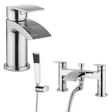 Proflow Tiera Basin Mixer & Bath Shower Mixer Value Pack