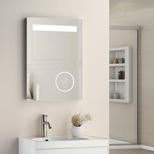 Drench LED Bathroom Mirror with Heated Demister Pad, Integrated Shaving Mirror and Bluetooth™ Speakers - 700 x 500mm