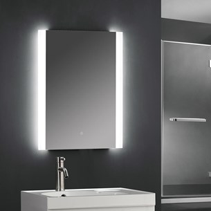 Drench LED Bathroom Mirror with Frosted Edge and LED Strips - 500 x 700mm