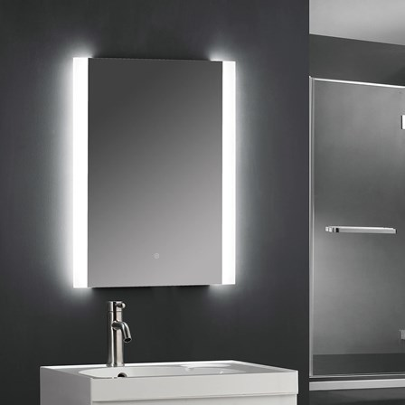 Drench Led Bathroom Mirror With Frosted Edge And Strips 500 X 700mm Tis3025