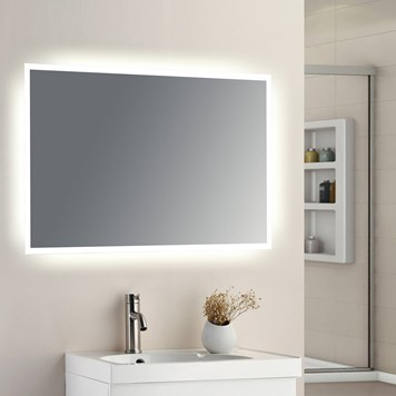 Drench LED Bathroom Mirror with 40mm Frosted Edge - 500 x 600mm