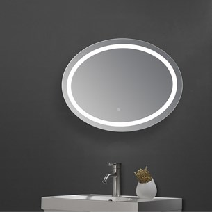 Drench LED Oval Bathroom Mirror with Heated Demister Pad - 600 x 800mm