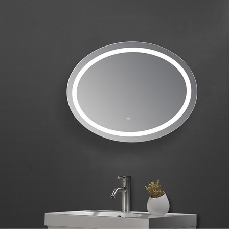 Drench Led Oval Bathroom Mirror With Heated Demister Pad 600 X