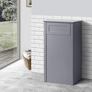 Butler & Rose Catherine Back to Wall Toilet Unit 400mm - Matt Grey