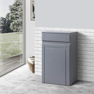 Butler & Rose Catherine 500mm Back to Wall Toilet Unit - Matt Grey