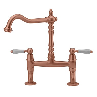 Tre Mercati Little Venice Bridge Kitchen Mixer - Old Copper