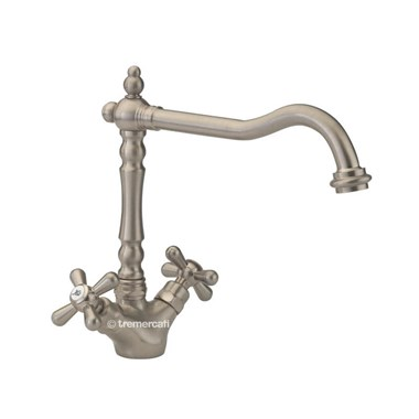 Tre Mercati French Classic Traditional Mono Sink Mixer - Pewter