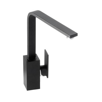 Abode New Media Single Lever Mono Kitchen Mixer - Granite Black