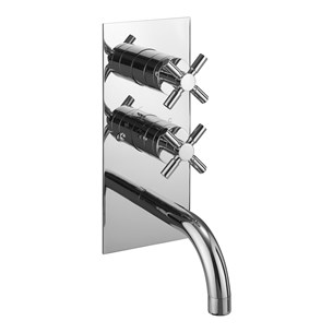 Crosswater Totti Concealed Thermostatic Shower Valve with Bath Spout and Diverter