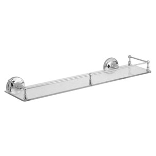Vado Tournament Wall Mounted 510mm Glass Galley Shelf