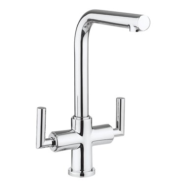 Crosswater Cucina Tropic Dual Control Mono Kitchen Mixer - Chrome