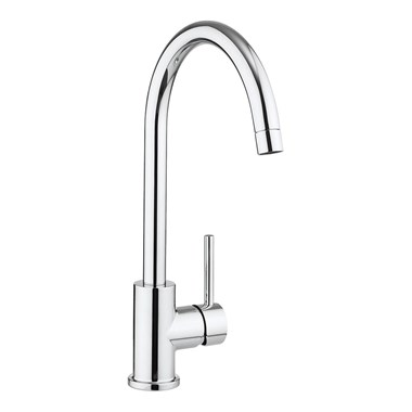 Crosswater Cucina Tropic Side Lever Mono Kitchen Mixer - Chrome
