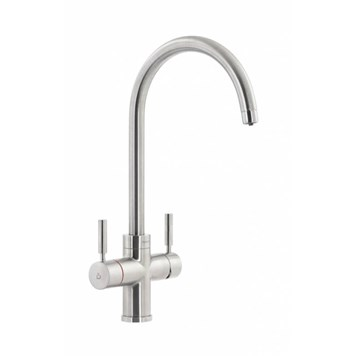 Abode Pronteau Prostream 3 in 1 Instant Hot Water Tap - Brushed Nickel