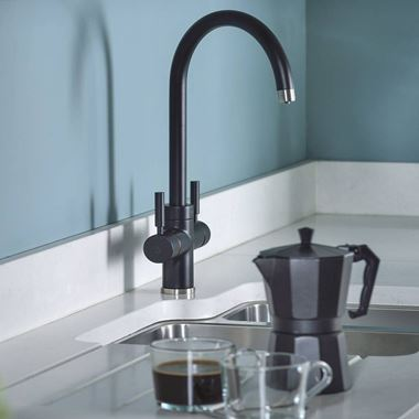 Abode Pronteau Prostream 3 in 1 Instant Hot Water Tap - Matt Black
