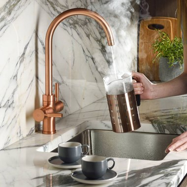 Abode Pronteau Prostream 3 in 1 Instant Hot Water Tap - Urban Copper