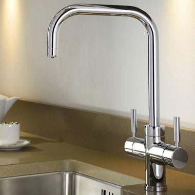 Abode Pronteau Prostyle 3 in 1 Instant Hot Water Tap - Chrome