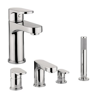 Proflow Track Basin Mixer & 4 Hole Bath Shower Mixer Value Pack