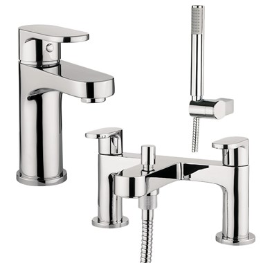 Proflow Track Basin Mixer & Bath Shower Mixer Value Pack