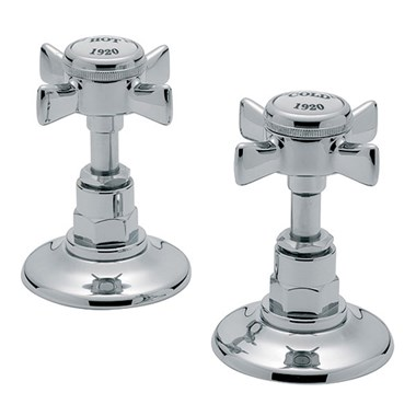 "Tre Mercati Imperial Deck Mounted Side Valves 3/4"" (Pair) - Chrome"
