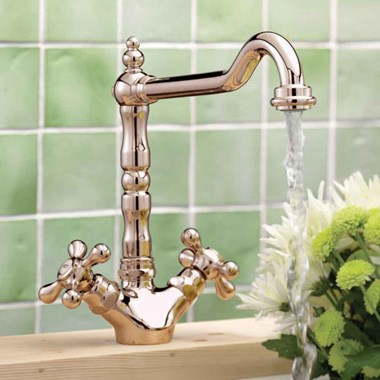 Tre Mercati French Classic Traditional Mono Sink Mixer - Polished Brass