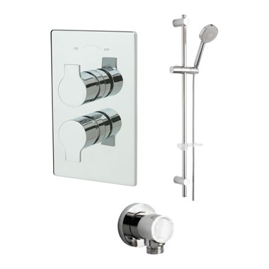 Tre Mercati Ora Concealed 1 Outlet Thermostatic Shower Valve Kit 2