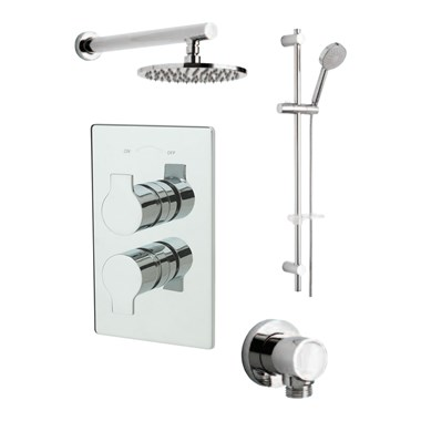 Tre Mercati Ora Concealed 2 Outlet Thermostatic Shower Valve Kit 1