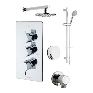 Tre Mercati Ora Concealed 3 Outlet Thermostatic Bath & Shower Valve Kit 1