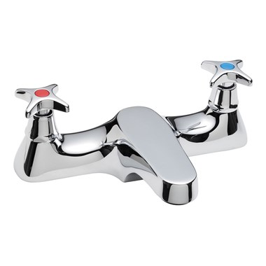Tre Mercati Capri Crosshead Deck Mounted Bath Filler