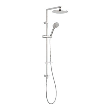 Tre Mercati Poppy Rigid Riser Shower Pole With Fixed Head & Multi Function Handset (For Concealed Shower Valves)